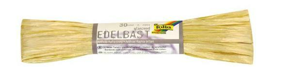 Edelbast glanzend - 30 m, naturel