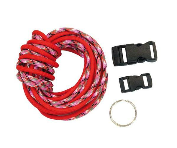 Paracord starterset - 4 mm, rood