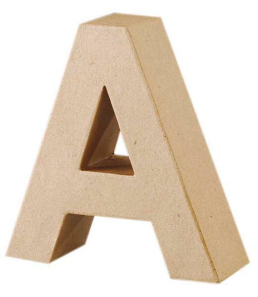 Papier-maché letter A