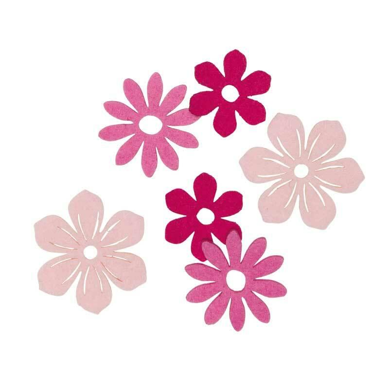 Vilten Decoratie Delen Bloemen Zuurstokroze Online Kopen Aduis