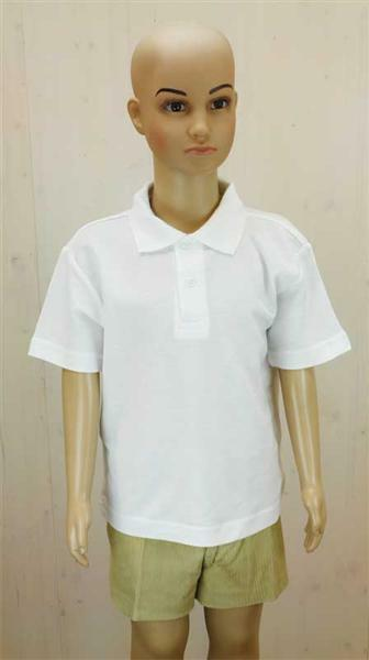 Poloshirt voor kind - wit, XL