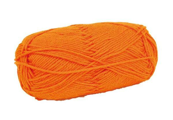 Wol Cotton Fun - 50 g, oranje